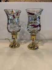 Partylite Calypso Peg Brass candle holders retired Peg Light Votive
