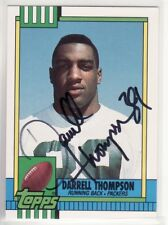 DARRELL THOMPSON GREEN BAY PACKERS 1990 TOPPS TRADED #36T AUTOGRAPHED CARD