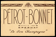 BUVARD champagne PETROT - BONNET  epernay