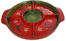 5 Compartment Tapas Serving Dish  21 cm Traditional Spanish Handmade Ceramic
