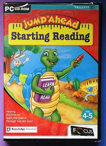 JUMP AHEAD STARTING READING PC CD-ROM FUN LEARNING AGES 4-5 brand new & sealed !