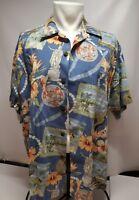 VTG Barefoot In Paradise Hawaiian Shirt Mens XL  floral Aloha size extra large