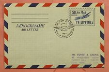 DR WHO 1955 PHILIPPINES FDC 50C AEROGRAMME 170134