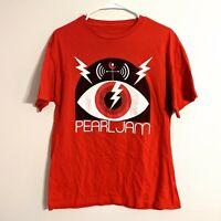 2013 Pearl Jam Lightning Bolt Tour T-Shirt Medium Small Pearl Jam Tee