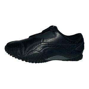 PUMA Women's Mostro Perf Black Perforated Leather Running Sneakers Size 7.5M