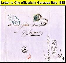 1868 letter cover to officials in Gonzaga Italy with nice collectible stamp (34)