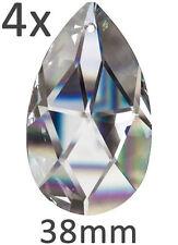 4 Kristallglas Wachtel Tropfen Pendel Facette 38mm SPECTRA CRYSTAL von Swarovski