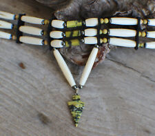 Cherokee made William Lattie Auth Native American Choker w/Serpentine Arrowhead