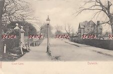 English Postcard. Court Lane, Dulwich, Southwark. London. Lovely! Mailed 1904