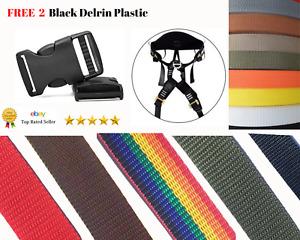 Polypropylene Webbing Strap/Tape 20mm,25mm,40mm,50mm Popular Colours(UK Made)