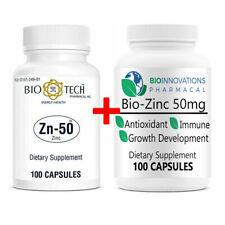 NEW BioTech Pharmacal Zn-50 Zinc BioInnovations Immune Booster Bundle 200 count