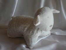 Doudou mouton coussin, blanc, spirales grises, Obaïbi