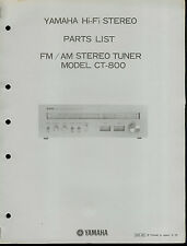 Original Factory Yamaha CT-800 Hi-Fi Stereo Tuner Parts List