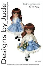 """Picking Daisies Doll Clothes Sewing Pattern for 10"""" Patsy & Ann Estelle Tonner"""