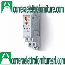 Rele temporizzatore timer luci scale DIN 220v FINDER 14.71.8.230 14718230