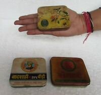 3 Pc, Old Collectible Tin Box Different Beedi Ad. Litho Print Tin Box