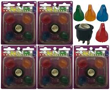 (5) Illuminating Toggle Switch 4-IN-1 Lens Kit 12V 20A - Red Yellow Blue Green