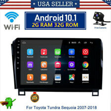 For Toyota Sequoia Tundra 10.1'' Android10.1 Car Stereo Radio GPS Navigation Cam