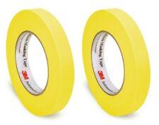 3M 06652 Two Rolls Yellow Automotive Refinish Masking Tape 3/4