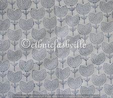 1 Yard Indian Hand block Print Running Loose Cotton Fabrics Printed Decor New_1