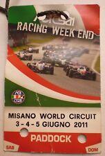 CIRCUITO MISANO PASS PADDOCK WORLD CIRCUIT 2011  13/11/17