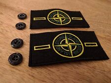 2 Stone Island Patch Badge con 4 pulsanti