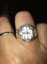 Silpada Sterling Silver Cross Ring;  Size 7