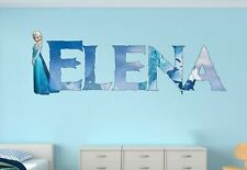 Frozen Elsa Custom Vinyl Stickers 3D Wall Decals Name Art MA324