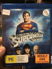 Superman The Movie ex-rental BLU RAY (1978 Christoper Reeve superhero movie)