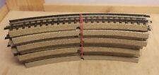 10 X Märklin H0 00 3600 A 1/1 Curved Track Good Sauber