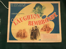 """Rembrandt 1936 United Artists 11x14"""" title lobby card Charles Laughton"""