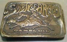 Rare Vintage Bergamot Camel Oil Sheik Of Araby 1974 Brass Belt Buckle - Cobra
