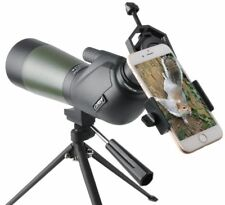 Gosky 15-45x60 Porro Prism Spotting Scope with Tripod and Cell Phone Adapter