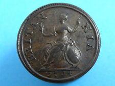 1714 Queen Anne Rame Moneta Farthing-estremamente RARA-BUONA QUALITà