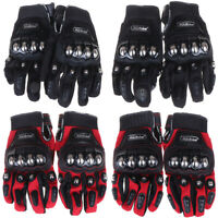 2019 Hot Metal Strong Knuckle Mad Racing Motorbike Motorcycle Armor Gloves Bla C
