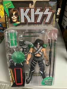 1997 Mcfarlane Kiss PETER CRISS Ultra Action Figure w/ Drumstick Missile