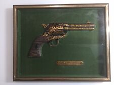 Intercraft Industries Colt 45 in Shadow Box Gold Color Metal Green Background
