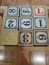 Vintage collectible Uncle Goose Alphabet Blocks
