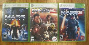 Mass Effect 1, 2, & 3 Bundle Lot (Microsoft Xbox 360) - Tested - Free Shipping