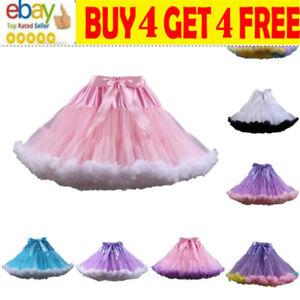 Women Adult Lady Tutu Tulle Skirt Fancy Skirt Dress Up Party Dancing Dress Nsr