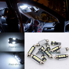 White LED Interior Light Kit Package 16 Bulbs Package FIT RENAULT Megane II W1