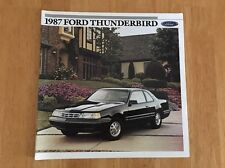 Vintage 1987 Ford Thunderbird Sales Brochure Original LX Turbo Coupe Sport