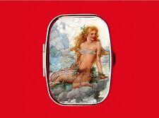 MERMAID PIN UP GIRL SEA FISH GAZE VINTAGE TRINKET BOX STASH METAL PILL MINT CASE
