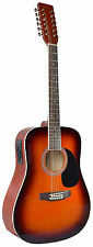 NEW MADERA 12 STRING ACOUSTIC ELECTRIC GUITAR - VINTAGE BURST - W-4122CE- VB