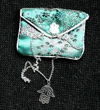 """Sterling Silver Hand of Fatima on (16"""") Chain"""
