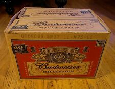 Budweiser Millennium Case Bottle Beer 20 ct Cardboard 1999* Collectors