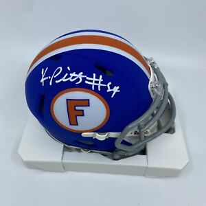Kyle Pitts Signed Florida Gators Blue Speed Mini-Helmet