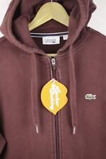 Mens LACOSTE Hoodie DEVANLAY CASUAL SPORT Size 6 Large Hooded FLEECE Sweater P63