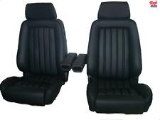 2 Recaro ergomed Leder schwarz Mercedes R107 SL Sitze Sportsitze neu bezogen
