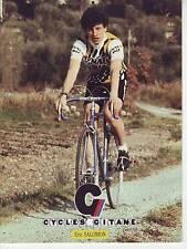 CYCLISME carte cycliste ERIC SALOMON équipe RENAULT elf GITANE 1982